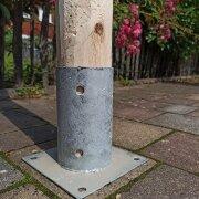 Pfostenschuh für Rundhölzer 80 mm