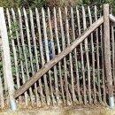 Zaunpfahl Kastanie Höhe 200 cm rund zu Zaun Höhe 150 cm Durchmesser ca 8-10cm mit Spitze