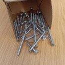 Beschlagsatz mit Anschraubkloben (inkl. Schraubenkit in Edelstahl) für ein einflügeliges Tor.