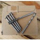 Montagekit zur Zaunmontage 50 Schrauben, Bit, Bohrer. V2A