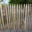 Proline Staketenzaun Kastanie 80 cm hoch, 10m Länge, Lattabstand ca 2-4cm