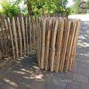 Proline Staketenzaun Kastanie 80 cm hoch, 1m-Schnittware bis max 9m Länge, Lattabstand ca 4-6cm