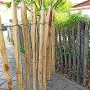 Proline Staketenzaun Kastanie 100 cm hoch, 1m-Schnittware bis max 9m Länge, Lattabstand ca 4-6cm