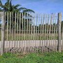 Proline Staketenzaun Kastanie 150 cm hoch, 1 m-Schnittware bis max 4m Länge, Lattabstand ca 4-6cm
