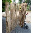 Proline Staketenzaun Kastanie 175 cm hoch, 1 m-Schnittware bis max 4m Länge, Lattabstand ca 4-6cm