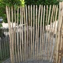 Proline Staketenzaun Kastanie 175 cm hoch, 5 m, Lattabstand ca 4-6cm