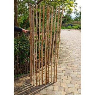 Proline Staketenzaun Kastanie 200 cm hoch, 1m-Schnittware bis max 4m Länge, Lattabstand ca 4-6cm