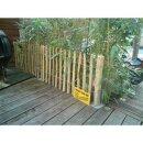 Proline Staketenzaun Kastanie 50 cm hoch, 1m-Schnittware bis max 9m Länge, Lattabstand ca 4-6cm