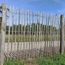 Proline Staketenzaun Kastanie 150 cm hoch, 5 m, Lattabstand ca 4-6cm