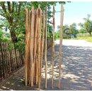 Proline Staketenzaun Kastanie 150 cm hoch, 1 m-Schnittware bis max 4m Länge, Lattabstand ca 8-10cm