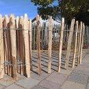 Proline Staketenzaun Kastanie 60 cm hoch, 10m-Rolle,...