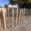Proline Staketenzaun Kastanie 60 cm hoch, 1m-Schnittware bis max 9m Länge, Lattabstand ca 8-10cm