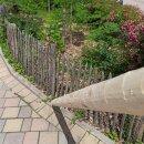 Zaunpfahl Northern White Cedar Höhe 220 cm rund zu Zaun Höhe 150/175 cm Durchmesser ca 7-9cm mit Spitze