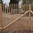 Zaunpfahl Northern White Cedar Höhe 170 cm rund zu Zaun Höhe 120 cm Durchmesser ca 7-9cm mit Spitze