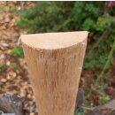 Querriegel 80cm aus Northern White Cedar, halbiertes Rundholz, ungeschliffen, roh