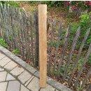 Querriegel 100cm aus Northern White Cedar, halbiertes Rundholz, ungeschliffen, roh