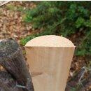 Querriegel 210cm aus Northern White Cedar , halbiertes Rundholz, ungeschliffen, roh