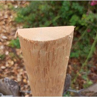 Querriegel 220cm aus Northern White Cedar, halbiertes Rundholz, ungeschliffen, roh