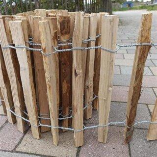Proline Staketenzaun Kastanie 40 cm hoch, 10m-Rolle, Lattabstand ca 4-6cm