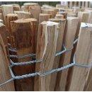 Proline Staketenzaun Kastanie 40 cm hoch, 1m-Schnittware bis max 9m Länge, Lattabstand 4-6cm