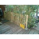 Proline Staketenzaun Kastanie 60 cm hoch, 1m-Schnittware bis max 9m Länge, Lattabstand 4-6cm