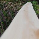 Querriegel 170cm aus Northern White Cedar, halbiertes Rundholz, geschliffen