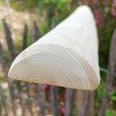Querriegel 210cm aus Northern White Cedar , halbiertes Rundholz, geschliffen