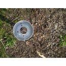 Einschlagbodenhülse rund für 100mm Rundholz Einschlagtiefe 60cm