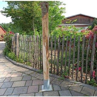 Rundholz Kastanie Höhe 120 cm Durchmesser ca 8cm