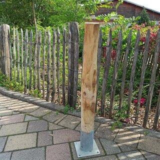 Rundholz Kastanie Höhe 80 cm Durchmesser ca 8cm