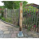 Rundholz Kastanie Höhe 90 cm Durchmesser ca 8cm