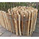 Proline Staketenzaun Kastanie 40 cm hoch, 10m-Rolle, Lattabstand ca 2-4cm