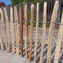Proline Staketenzaun Kastanie 50 cm hoch, 10m-Rolle, Lattabstand ca 2-4cm