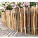 Proline Staketenzaun Kastanie 40 cm hoch, Schnittware 1-9m, Lattabstand ca 2-4cm