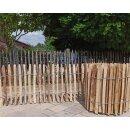 Proline Staketenzaun Kastanie 50 cm hoch, Schnittware 1-9m, Lattabstand ca 2-4cm