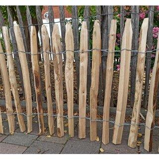 Proline Staketenzaun Kastanie 60 cm hoch, Schnittware 1-9m, Lattabstand ca 2-4cm