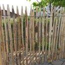 Proline Staketenzaun Kastanie 100 cm hoch, Schnittware 1-9m, Lattabstand ca 2-4cm