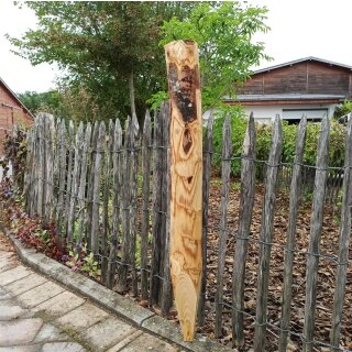Zaunpfahl Kastanie Höhe 100 cm rund zu Zaun Höhe 40, 50 und 60 cm Durchmesser ca 8-10cm mit Spitze