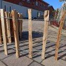 Proline Staketenzaun Kastanie 40 cm hoch, 10m-Rolle, Lattabstand ca 8-10cm