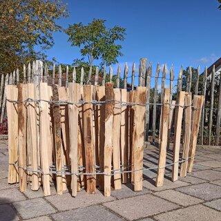 Proline Staketenzaun Kastanie 40 cm hoch, 1m-Schnittware bis max 9m Länge, Lattabstand 8-10cm