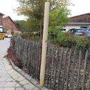 Fünfkant-Zaunpfahl Kastanie Höhe 150 cm zu Zaun Höhe 100 cm Umfang 22 cm mit Spitze