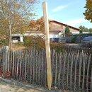 Fünfkant-Zaunpfahl Kastanie Höhe 180 cm zu Zaun...