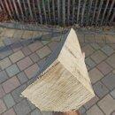 Fünfkant-Zaunpfahl Kastanie Höhe 180 cm zu Zaun Höhe 120 cm Durchmesser ca 7-9 cm mit Spitze