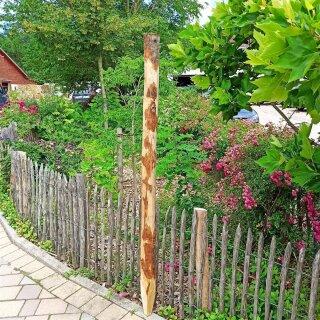 Zaunpfahl Kastanie Höhe 175 - 180 cm rund zu Zaun Höhe 120 cm Durchmesser ca 8-10cm mit Spitze