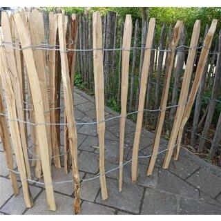 Proline Staketenzaun Kastanie 80 cm hoch, 1 m-Schnittware bis max 9m Länge, Lattabstand ca 8-10cm