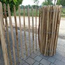 Proline Staketenzaun Kastanie 120 cm hoch, 1 m-Schnittware bis max 9m Länge, Lattabstand ca 8-10cm
