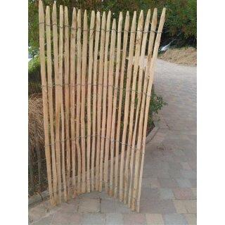 Proline Staketenzaun Kastanie 175 cm hoch, 5m Länge, Lattabstand ca 2-4cm