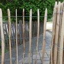 Proline Staketenzaun Kastanie 100 cm hoch, 10m-Rolle, Lattabstand ca 8-10cm