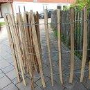 Proline Staketenzaun Kastanie 80 cm hoch, 10m-Rolle, Lattabstand ca 8-10cm