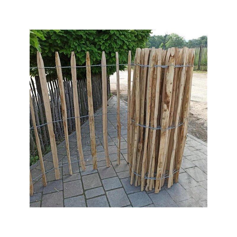 proline staketenzaun kastanie 120 cm hoch 10m rolle lattabstand ca 8 10cm 140 00. Black Bedroom Furniture Sets. Home Design Ideas